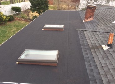 Flat Roof installed on House