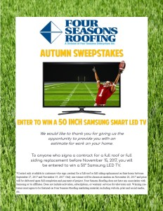 Details about our Autumn Sweepstakes